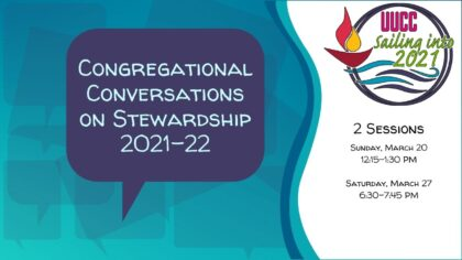 Congregational Conversations on Stewardship 2021-22